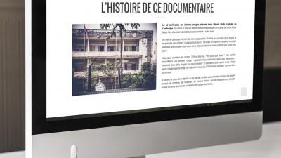 Site Welcome to Angkar par Antoine POHU - Graphiste Webdesigner Lille
