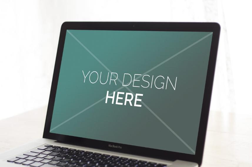 mock-ups macbook pro - Antoine POHU graphiste webdesigner Lille