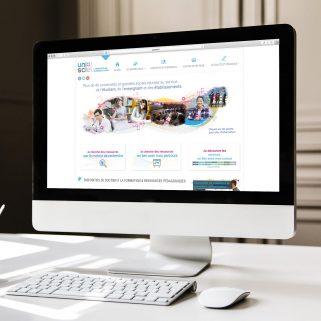 Site Unisciel par Antoine POHU - Graphiste Webdesigner Lille